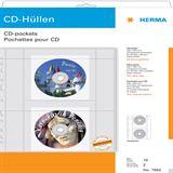 Herma 10 CD-Hüllen transparente Folie inkl. Papierhüllen