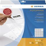 Herma Diahüllen für Kleinbild-Dias 10 Hüllen klar