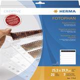 Herma Negativhüllen transparent für 7 x 6 Streifen 25 St.