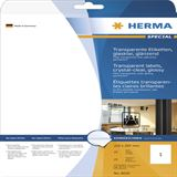 Herma 8020 transparent glasklar Transparent-Etiketten 21.0x29.7 cm