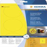 Herma 8035 strapazierfähig gelb Signal-Schilder 8.5x8.5 cm (25