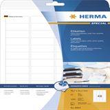 Herma 8864 Inkjet-Etiketten 4.57x2.12 cm (25 Blatt (1200 Etiketten))