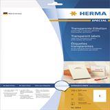 Herma 8964 transparent Inkjet-Folienetiketten 21.0x29.7 cm (10 Blatt (10 Etiketten))