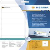 Herma 10016 repositionierbar Adressetiketten 9.91x3.81 cm (25 Blatt