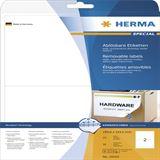 Herma 10020 ablösbar Universal-Etiketten 19.96x14.35 cm (25
