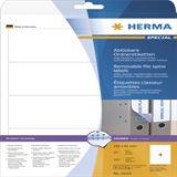 Herma 10165 ablösbar blickdicht Ordneretiketten 19.2x6.1 cm (25 Blatt (100 Etiketten))
