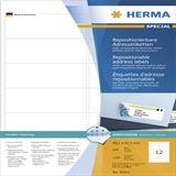 Herma 10311 repositionierbar Adressetiketten 9.91x4.23 cm (100 Blatt