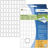 Herma 10602 ablösbar Vielzwecketiketten 1x1.6 cm (32 Blatt (2592 Etiketten))