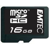 16 GB EMTEC microSDHC Class 6 Retail inkl. Adapter