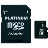 8 GB Platinum BestMedia microSDHC Class 4 Retail inkl. Adapter auf SD