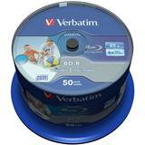 Verbatim BD-R 25 GB bedruckbar 50er Spindel (43812)