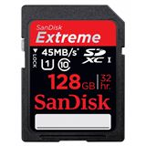 128 GB SanDisk Extreme HD Video 80MB/s SDXC UHS-I Retail