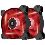 Corsair Air Series AF120 LED Red Quiet Edition 2er-Pack 120x120x25mm