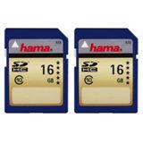 16 GB Hama 00114988 SDHC Class 10 Retail 2er-Pack