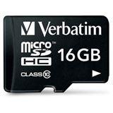 16 GB Verbatim microSDHC Class 10 Retail inkl. Adapter