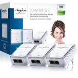 Devolo dLAN 500 duo Network Kit 500 MBit/s 2x LAN 10/100 3er Pack