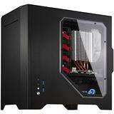 Cooltek W1 mit Sichtfenster Mini Tower ohne Netzteil schwarz