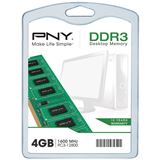 4GB PNY DIM104GBN/12800/3-SB DDR3-1600 DIMM CL11 Single