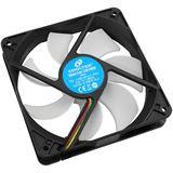 Cooltek Silent Fan 120 PWM 120x120x25mm 700-1500 U/min 6.6-17.1 dB(A) schwarz/weiß