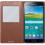 Samsung EF-CG900BF Kunststoff Flip-Cover für Samsung Galaxy S5 gold/rosa