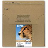 Epson T0715 Tintenpatrone schwarz und dreifarbig