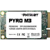 120GB Patriot Pyro M3 Series Module mSATA 6Gb/s MLC (PP120GSM3SSDR)