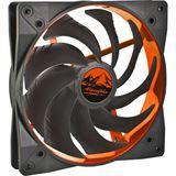 EKL Wing Boost 2 140x140x25mm 300-1200 U/min 19.6 dB(A) schwarz/orange