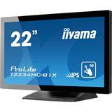 """21,5"""" (54,61cm) iiyama T2234MC-B1X schwarz/silber 1920x1080"""