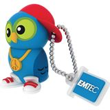 8 GB EMTEC M341 DJ Owl blau USB 2.0
