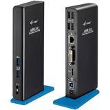 I-TEC USB 3.0 Dual Docking Station 1x DVI 1x HDMI 2048x1152 Px+Adapter