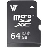 64 GB V7 microSDXC UHS-I Retail inkl. Adapter auf SD
