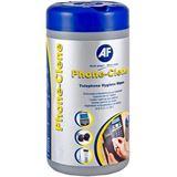(€0,03*/1L) AF International Phone-Clene Telefone Reinigungstücher 100 Stück Spenderdose (PHC100T)