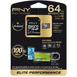 64 GB PNY Elite Performance microSDXC UHS-I Retail inkl. Adapter auf
