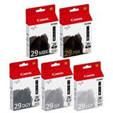 Canon Tinte PGI-29MBK/PBK/DGY/GY/LGY/CO 4868B018 schwarz