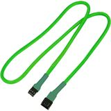 Nanoxia 60 cm sleeved neon grünes Verlängerungskabel