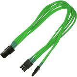 Nanoxia 30 cm einzel gesleeved neon grünes Adapterkabel für PCI-E 6 auf 6+2-Pin (NXP683ENG)