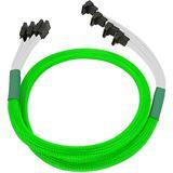Nanoxia 70 cm abgewinkeltes neon grünes Verbindungskabel für 4x SATA 3.0 (NXS6GSCNG)