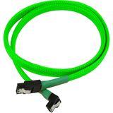 Nanoxia 60 cm sleeved abgewinkeltes neon grünes Verbindungskabel