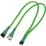 Nanoxia 30 cm sleeved neon grünes Y-Kabel für 4-Pin PWM