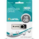 16 GB xlyne Swing schwarz/silber USB 2.0