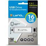 16 GB xlyne OTG silber USB 2.0