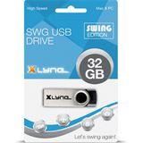 32 GB xlyne Swing schwarz/silber USB 2.0