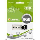 8 GB xlyne Swing schwarz/silber USB 2.0