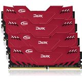 16GB TeamGroup Dark Series rot DDR4-2666 DIMM CL15 Quad Kit