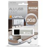 2 GB xlyne Alu grau USB 2.0