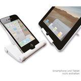 Newstar Tablet/Smartphone-Ständer inkl. Reinig.-Set weiß