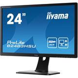 "24"" (60,96cm) iiyama ProLite B2483HSU-B1DP schwarz 1920x1080 1xDP / 1xDVI / 1xVGA"