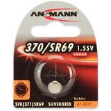 Ansmann Silberoxid-Knopfzelle, 1,55V, 370/SR69 (1516-0018), 1er-Blister
