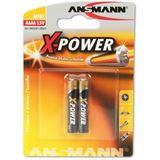 ANSMANN X-Power LR8 Alkaline AAAA Mini Batterie 1.5 V 2er Pack