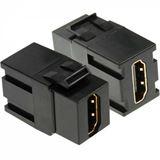 InLine HDMI Snap-In Einsatz, HDMI A Buchse/Buchse, schwarzes